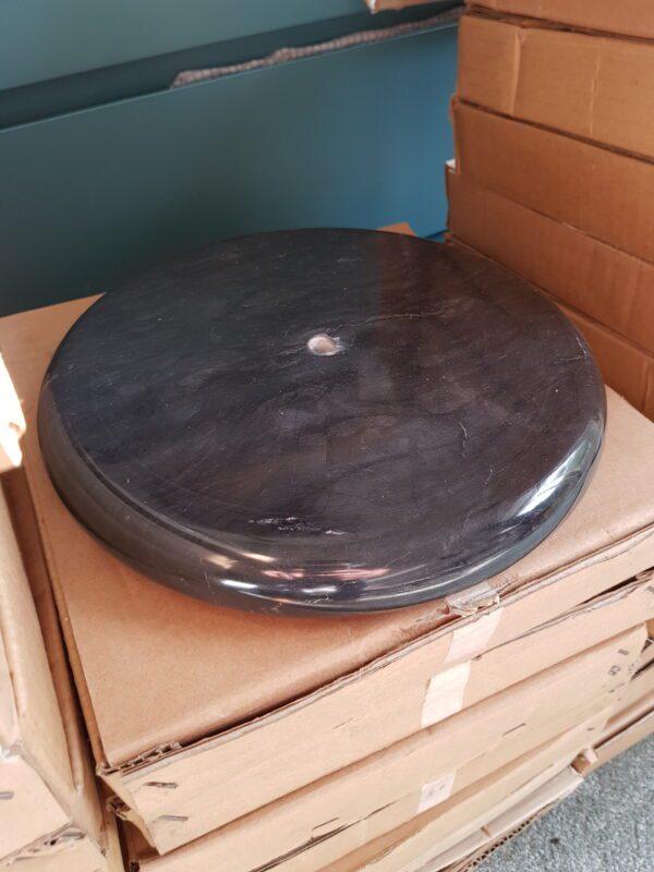 Sokkel voetstuk zwart marmer 27cm plat glad