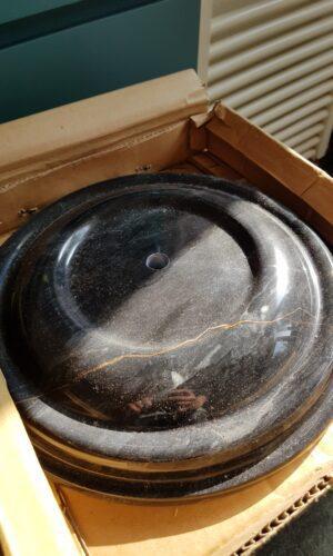 Sokkel voetstuk zwart marmer 27cm