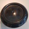 Sokkels - Voetstuk sokkel zwart marmer rond ribbel 23cm