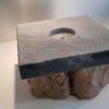 Sokkels - Voetstuk sokkel zwart marmer vierkant 23cm