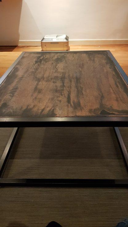 Zwart stalen salon tafel Koplos 30x30 koker