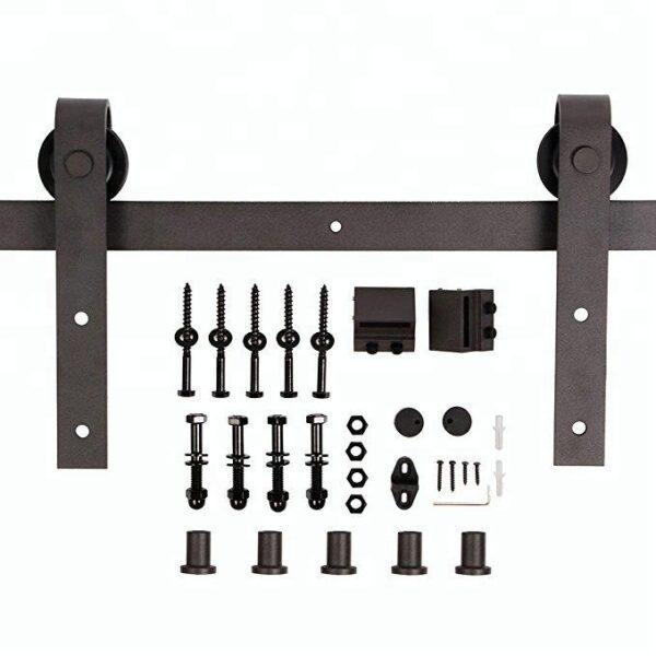 Schuifdeur-systeem-staal-recht-set