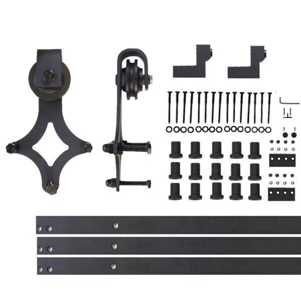 Stalen Schuifdeur systemen zwart staal diamand set