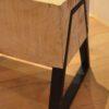 Boomstam bank - Boomstam tafel - Balken Bank - Boomstam tv meubel - Delloire-Staal-Hout 8