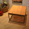 Stalen meubel - Stalen salontafel met hout - Balkentafel Indigo Blank stalen frame (3)