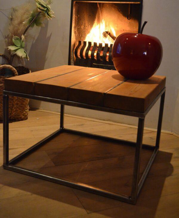 Stalen meubel - Stalen salontafel met hout - Balkentafel Indigo Blank stalen frame 4