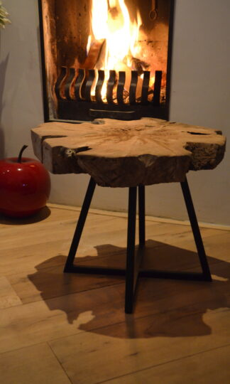 Bijzet Tafel Salon tafel Klavertje Vijf zwart frame staal