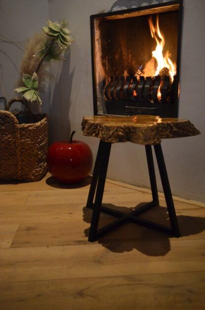 Bijzet tafel Natura epoxy hout staal framewerk