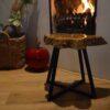 Boomstam Boomschijf Bijzettafel Salontafel Natura epoxy hout staal framewerk