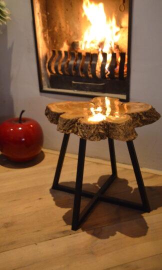 Bijzet tafel Natura zwart staal interieur