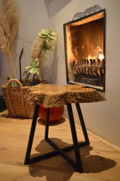 Bijzet tafel Natura zwart staal interieur interieur polyurethaan