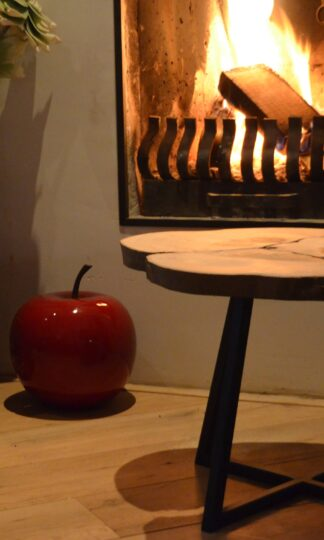 Bijzet tafel drie boom stalen frame zwart staal