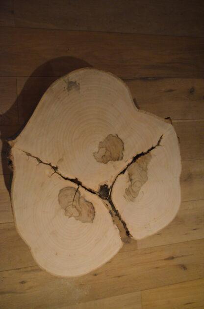 Blad Bijzet tafel Drie boom stalen frame zwart staal vierpoot poedercoating