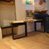 Boomstam tafel bank Woodworm Premium zitbank