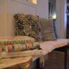 Boomstam tafel bank Woodworm Premium zitbank salon tafel