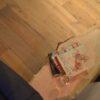 Boomstam tafel bank Woodworm Premium zitbank salon tafel blad bovenkant