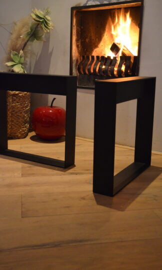 Frame Staal salon tafel bank Woodworm