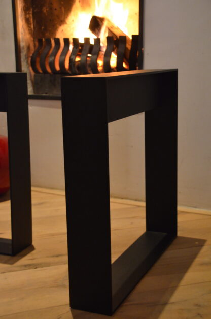 Frame Staal salon tafel bank Woodworm close-up 2